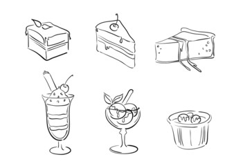 vector dessert illustrations