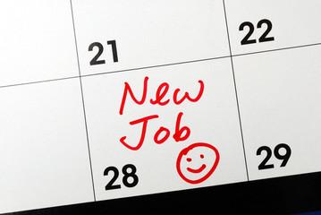 Mark the calendar to go to a new job