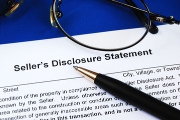 Seller disclosure statement in a real estate transaction