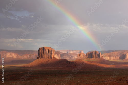 Rainbow Over Monument Valley - Arizona