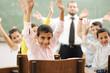 Education activities in classroom at school