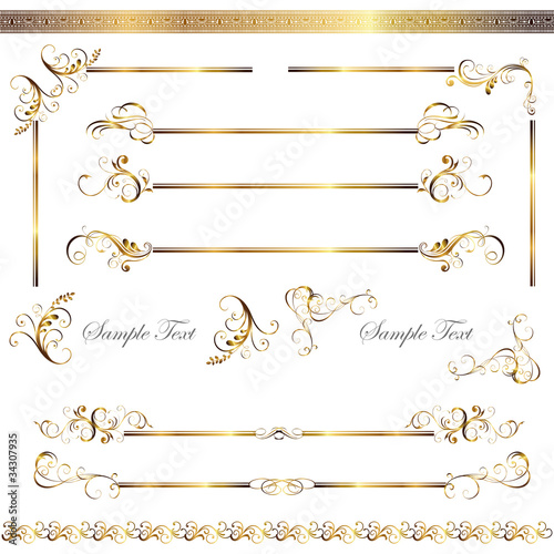 gold line and frame set