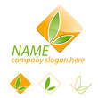 Logo agriculture, discount stores and food markets # Vector