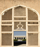 Handcrafted marble mesh window in Lahore Fort poster
