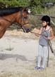 bambina e pony