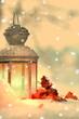 Leinwandbild Motiv Romatische Winterstimmung