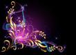 Glowing background with smoke