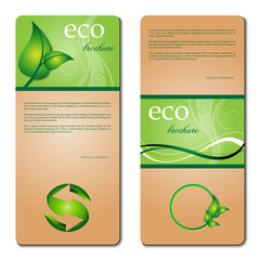 eco promotion brochure with diverse green elements