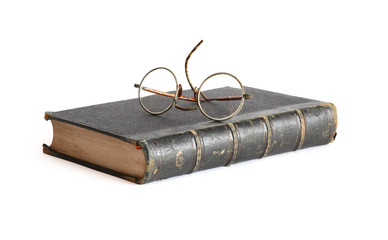 Old Book And Spectacles