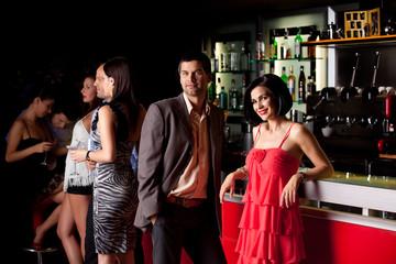 young people in bar having fun