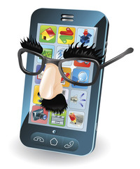 Mobile phone theft concept