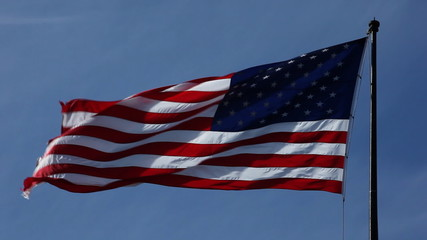 U.S. flag in the wind