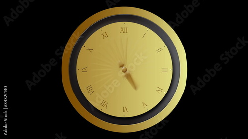 Clock time lapse with blur motion