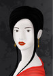 Oriental girl / geisha / japanese woman
