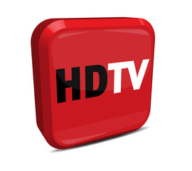HDTV Button 3d