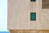 Modern urban building exterior poster