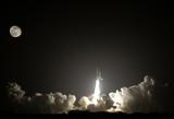 Fototapeta noc - księżyc - Przestrzenne