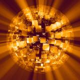 Lightcubes discoball gold black poster