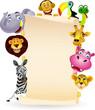 Animal cartoon and blank space