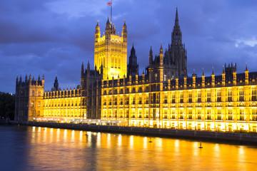 Parliament at night, London, England
