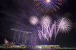 Fireworks over Marina Bay Sands
