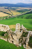 Medieval Slovakia Spis Castle, biggest by Area in central Europe poster