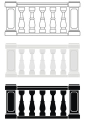 Architectural element -  balustrade