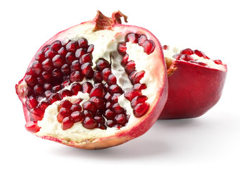 Two parts of pomegranate