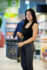 Happy Asian Female Shopper
