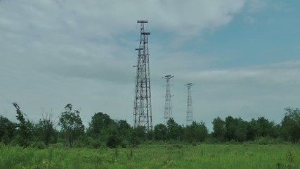 The big radio antennas