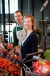Supermarket Woman and Clerk