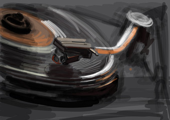 turntable sketch