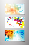 Fototapety Set of abstract colorful cross variations.
