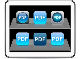PDF blue app icons.