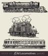 vector set: old locomotives #part2