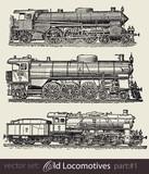 vector set: old locomotives #part1