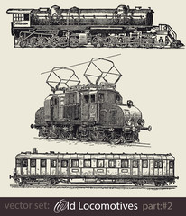 vector set: old locomotives #part2