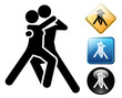 Dancers pictogram and signs