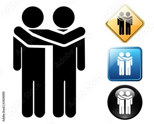 Friends pictogram and sign