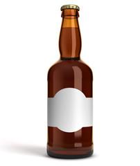 Bouteille de bière sur fond blanc 5