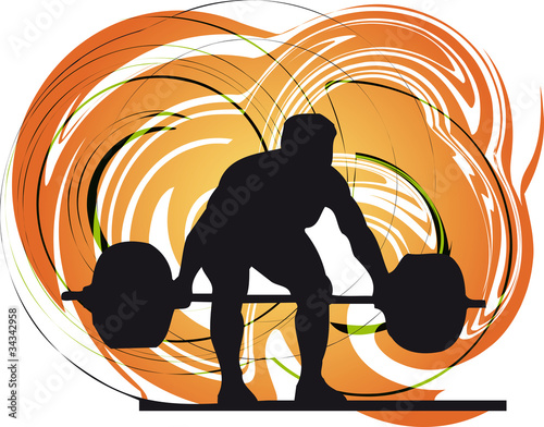 Male body builder vector illustration.