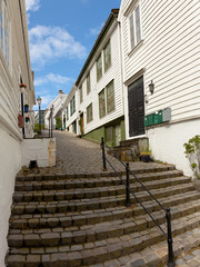Traditional wooden houses in Stavanger, Norway