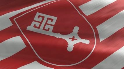 Flagge Bremen, nahtlos wiederholender Film / Endlosschleife