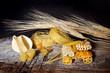 spighe di grano con pasta