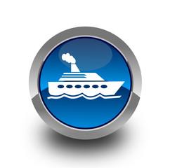 Ship glossy icon