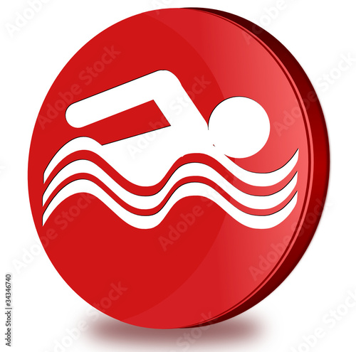 Swimming pool glosy icon