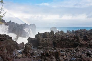 mer en furie, Langevin, île de la Réunion