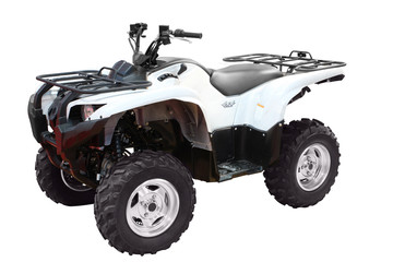 white 4x4 atv isolated