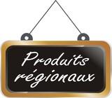 pancarte bois produits régionaux