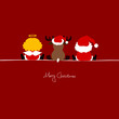 Santa, Angel & Reindeer Red